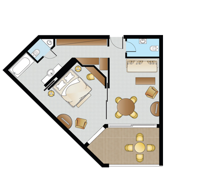 Astir Junior Suite Floorplan